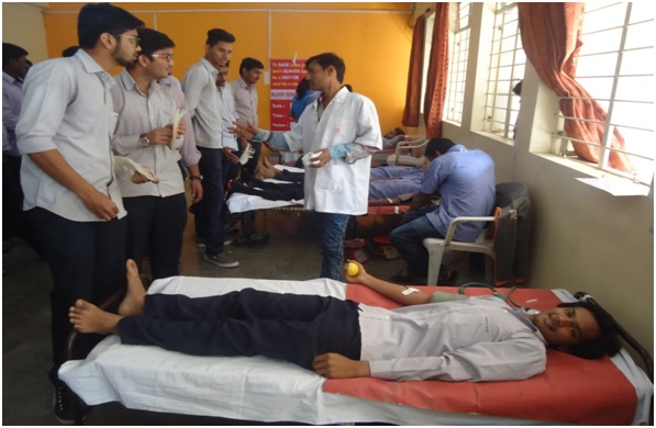 Blood donation Camp in PCP College at Pradhikaran, Nigdi, Near Akurdi Railway Station, Pune
