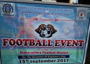 Pimpri Chinchwad polytechnic organizes Football Event on 15th September 2017