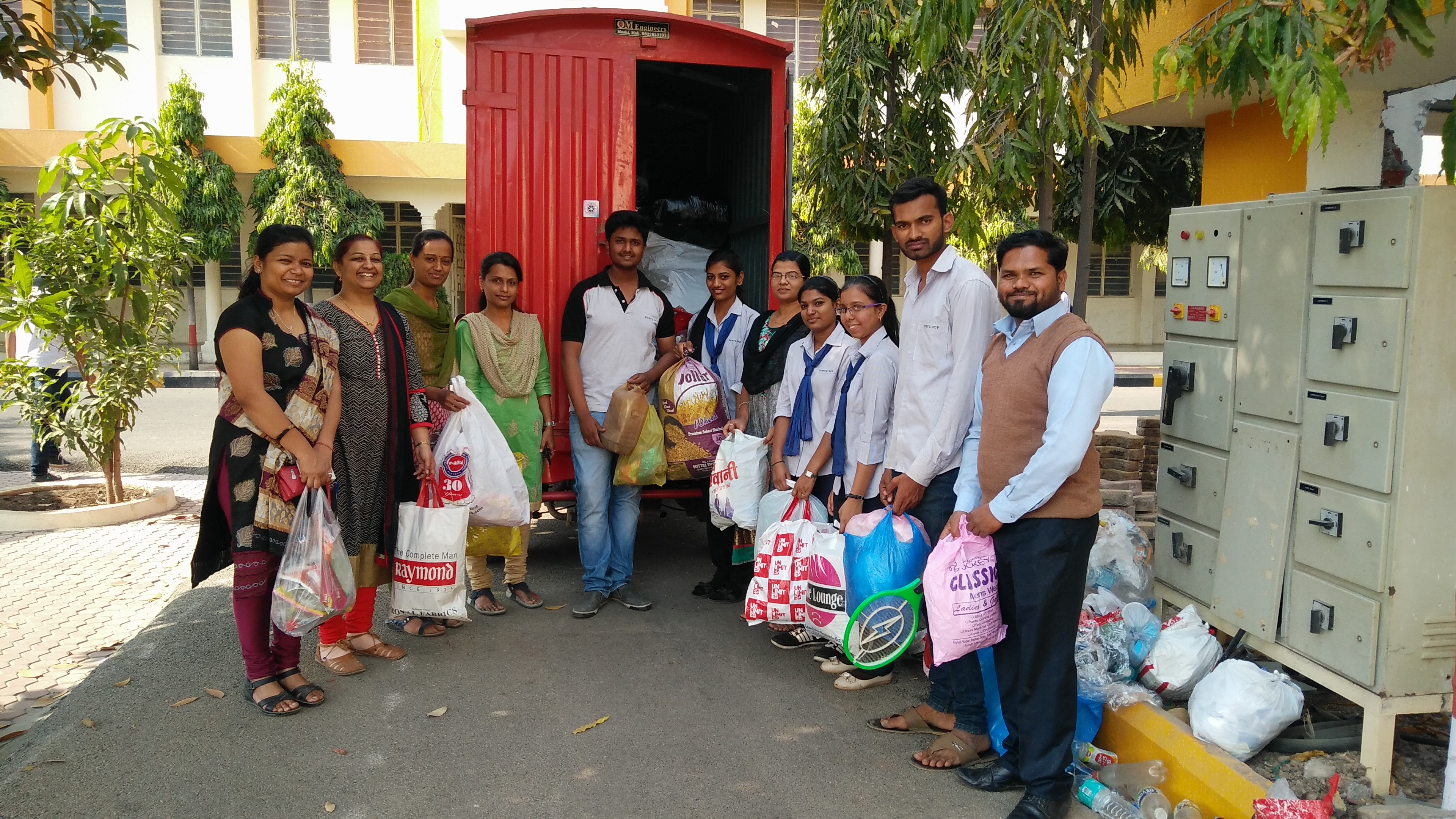 Waste Plastic collection and donation activity is conducted by Pimpri Chinchwad Polytechnic College