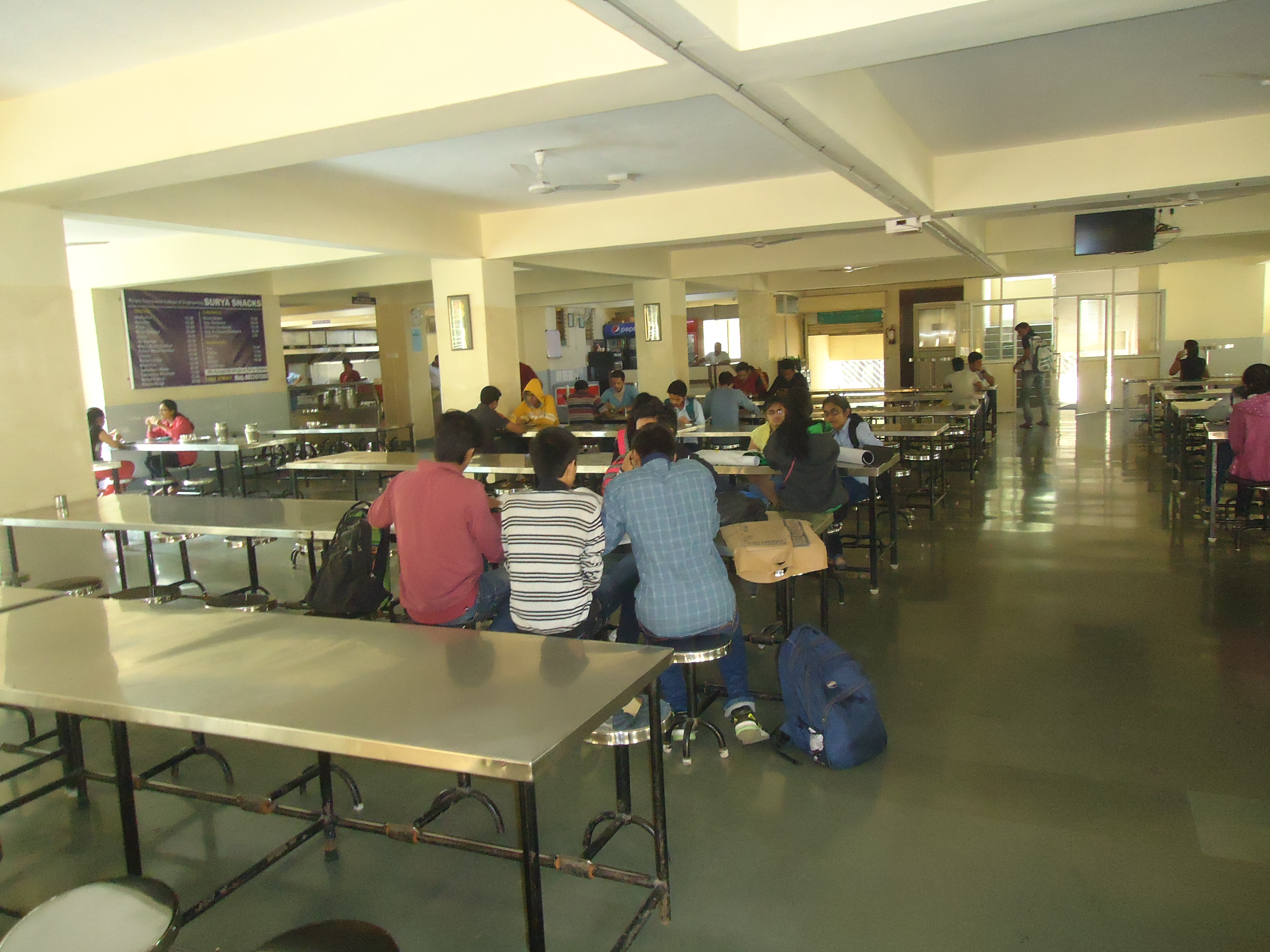Canteen at Pimpri Chinchwad Polytechnic College