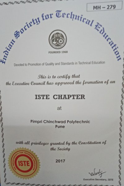Staff Chapter Certificate